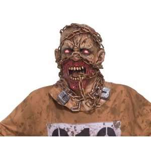 Chained Mask Gory Gothic Zombie Costume Flesh Rotting [Toy