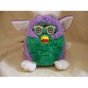 Tiger Electronic Talking Interactive Furby Purple Green Baby Babies