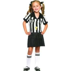 Half Pint Referee Costume Child Small 4 6: Toys & Games