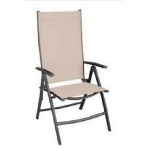 International Llc Tan Sling Folding Chair 1298 Folding Patio Chairs
