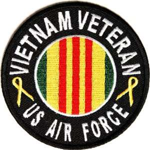 Air Force Vietnam Patch Round, 3 inch, small embroidered