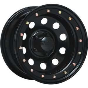 Black Rock Defender 15x12 Black Wheel / Rim 6x5.5 with a  63mm Offset