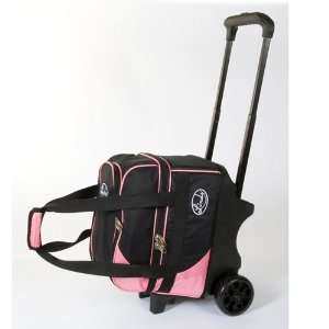 Linds Deluxe Single Ball Roller Bowling Bag  Black/Pink
