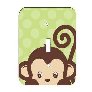 Monkey Jungle Nursery Single Toggle Lightswitch Plate