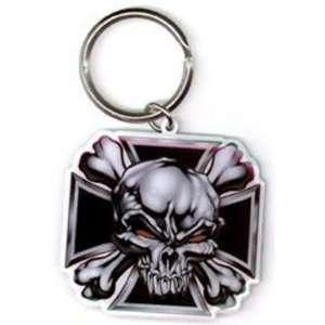 Skull Cross w/ Red Eyes Key Chain by Yujean Beauty