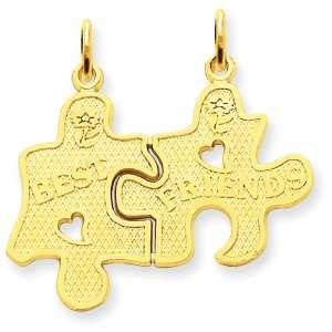 14k Best Friend Break apart Charm Jewelry