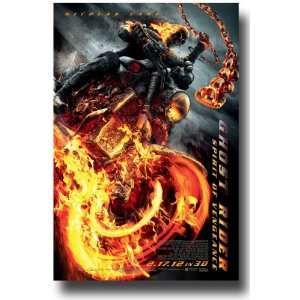 Ghost Rider 2 Poster   Spirit Of Vengence   2012 Movie Promo Flyer