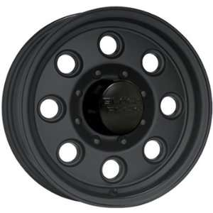 Black Rock Yuma Trailer 15x6 Black Wheel / Rim 5x4.5 with a 0mm Offset