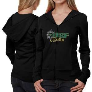 South Florida Bulls Ladies Black Puff Sleeve Full Zip