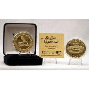 Busch Stadium 24KT Gold Final Season Coin: Sports & Outdoors