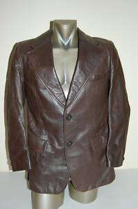 Corte Ingles Spanish Leather Jacket Coat Mens Large 42