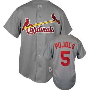 com Albert Pujols Majestic MLB Road Grey Replica St. Louis Cardinals