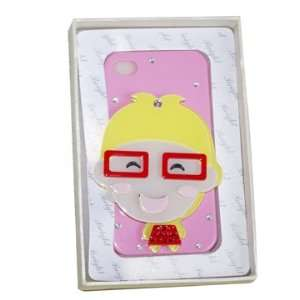 Fantasy Product Iphone 4/4s Case 3D design boy/glasses
