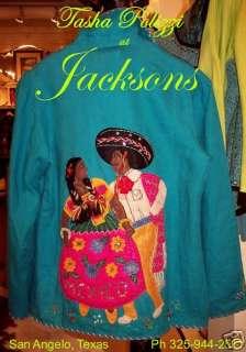 TASHA POLIZZI TIJUANA MEXICO FIESTA HAT DANCE JACKET M