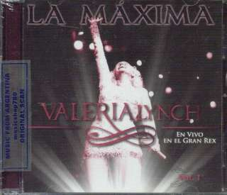 VALERIA LYNCH LA MAXIMA VOL. 1 EN VIVO EN EL GRAN REX SEALED CD NEW