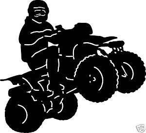 WHEELER QUAD ATV Off Road Window Sticker Car Decal 6