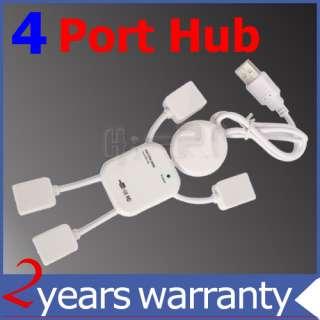 NEW 4 PortS USB HUB High Speed For PC LAPTOP USB2.0