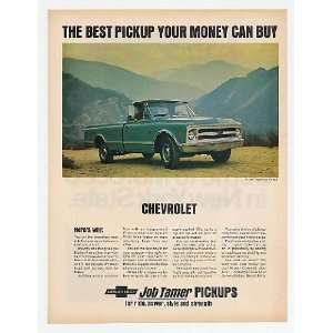 1968 Chevy 3/4 Ton Fleetside Pickup Truck Print Ad (14895