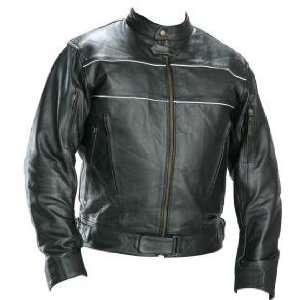 Classic Mens X Force Black Racer Motorcycle Jacket Sz M
