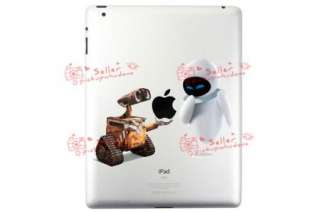Walle & Eva fall in love Decal Sticker skin for IPAD 2 laptop vinyl