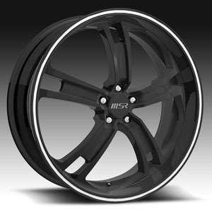 20 x7.5 MSR 087 0878 Black Wheels Rims 5 Lug