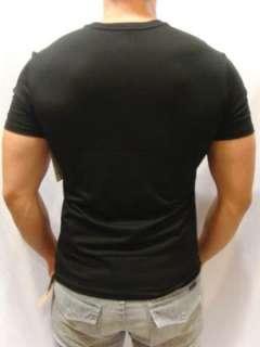 NWT VINCE Mens Soft Black Jersey Pima Vneck Tee Shirt
