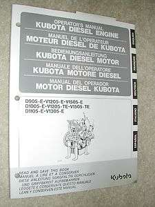 DIESEL ENGINE OPERATORS MANUAL D905 1005 1105 V1205 TE 1505 E 1305