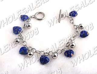 WHOLESALE 12strands Handwork Heart Glass Bead Bracelets
