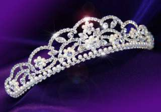 Bridal Pageant Crystal Faux Pearl Tiara T1058