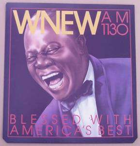 Original WNEW 1130 AM Louis Armstrong poster 80s 21x22
