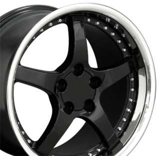 18 9.5/10.5 Black C5 Deep Dish Wheels Rims Fit Camaro Corvette