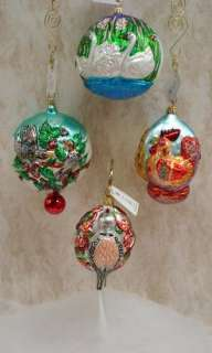 RADKO Two Turtle Doves ORNAMENT 12 Day Christmas 94SP04