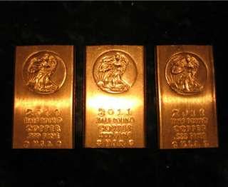 One .999 Fine Half Pound (8 oz) Copper Bullion Bar 2011 – Walking