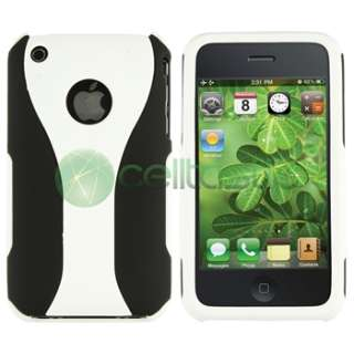 Accessory Bundle White 3 Piece Hard Case Headset for iPhone 3G 3GS 8