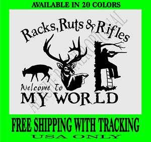 DEER HUNTING DECAL Rifle Gun DEER Bow Hunter Buck 1244