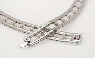 Damiani 18K White Gold & Diamond Double Row Necklace   Exquisite