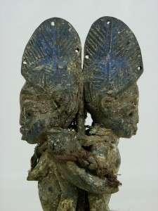 Tribal Art Yoruba IBEJI Couple Figure Collectible/ Santeria Ifa