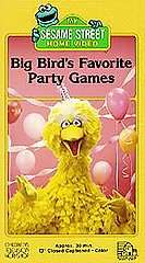 Sesame Street   Big Birds Favorite Party Games VHS, 1988