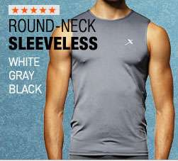Men Compression Sports sleeveless shirts Base layer ATHLETIC Fast dry