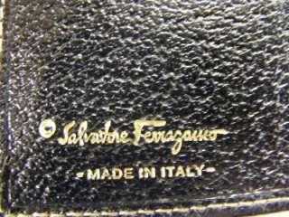 SALVATORE FERRAGAMO WALLET BLACK LEATHER MULTI COMPARTMENT ORGANIZER