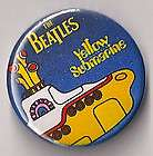 RARE ORIGINAL BEATLES YELLOW SUBMARINE BLUE BUTTON/PIN (FREE SHIP