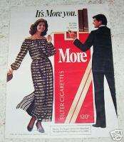 1983 More Cigarette sexy girl SELA WARD smoking 1 pg AD
