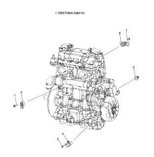 Polaris Oil Pressure Switch Sensor 0451887 MSX 110 150