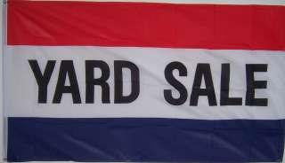 NEW 3 FEET x 5 FEET YARD SALE STORE SIGN BANNER FLAG