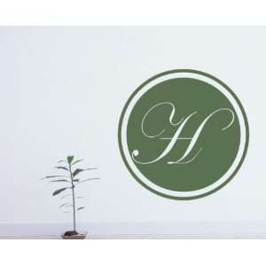 Letter H Monogram Letters Vinyl Wall Decal Sticker Mural Quotes Words