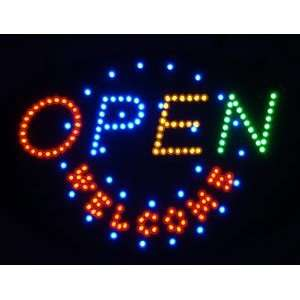 OPEN WELCOME Moving Electronic LED Message Sign