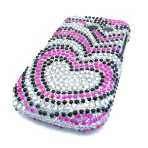 Samsung R375c Straight Talk Pink Hearts Bling Jewel
