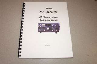 Yaesu FT 101ZD Operating Manual   Comb Bound   NEW