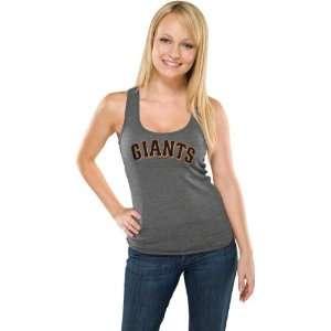 San Francisco Giants Womens Heather Charcoal Tri Blend