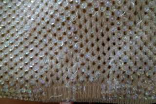 Vintage 60s Marilyn Monroe Style Hourglass Pinup Sequin Open Knit